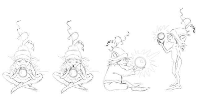 un farfadet avec une boule de cristal??? dans Illustration gnome_12