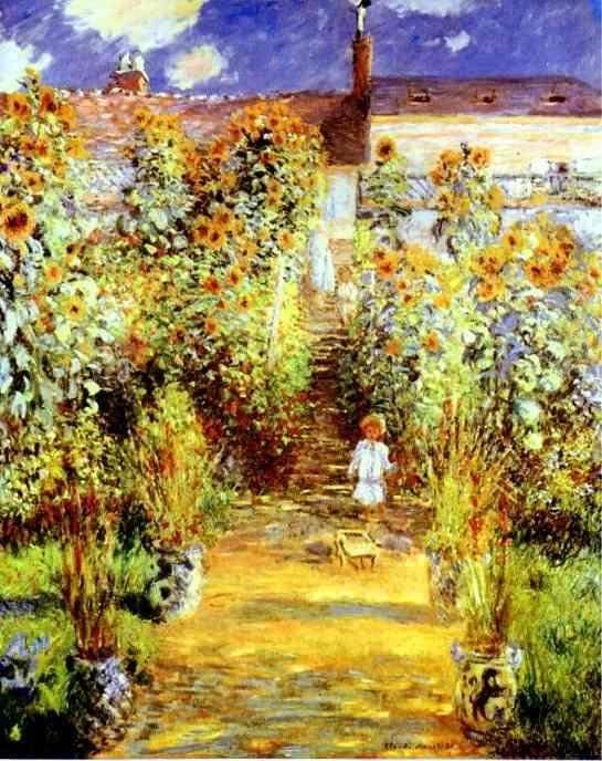 Claude Monet. Monet's Garden at Vétheuil. Monet710