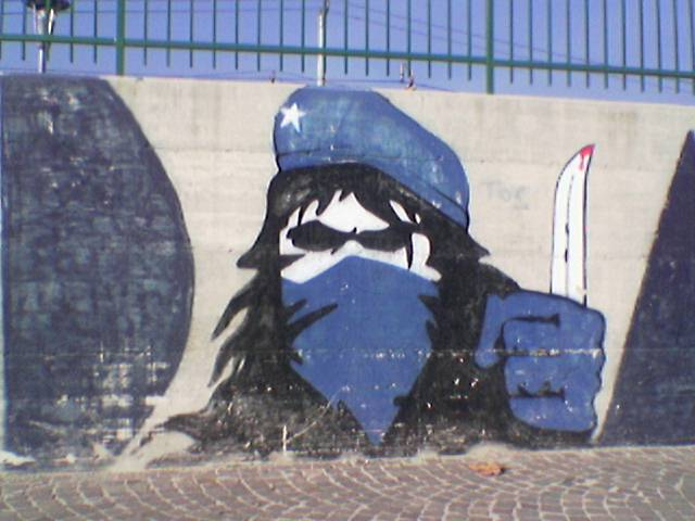 Graffiti et tags ultras Murale10