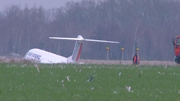 Sortie de piste d'un Fokker d'Air France Fokker11