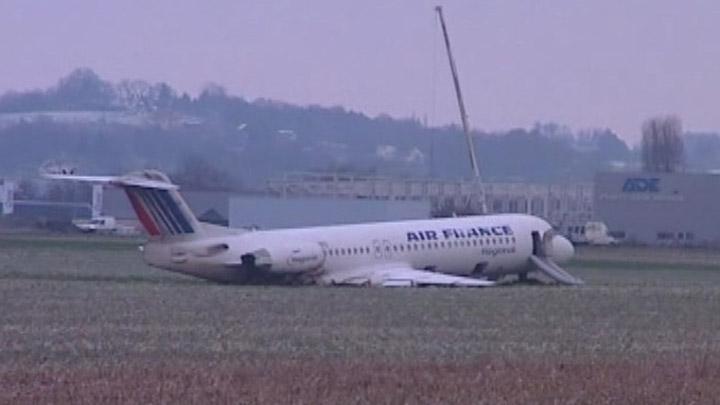 Sortie de piste d'un Fokker d'Air France Fokker12