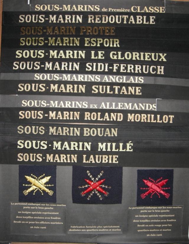 [ Logos - Tapes - Insignes ] Collection de rubans légendés de sous-marin et brevets SM Sm1cl10