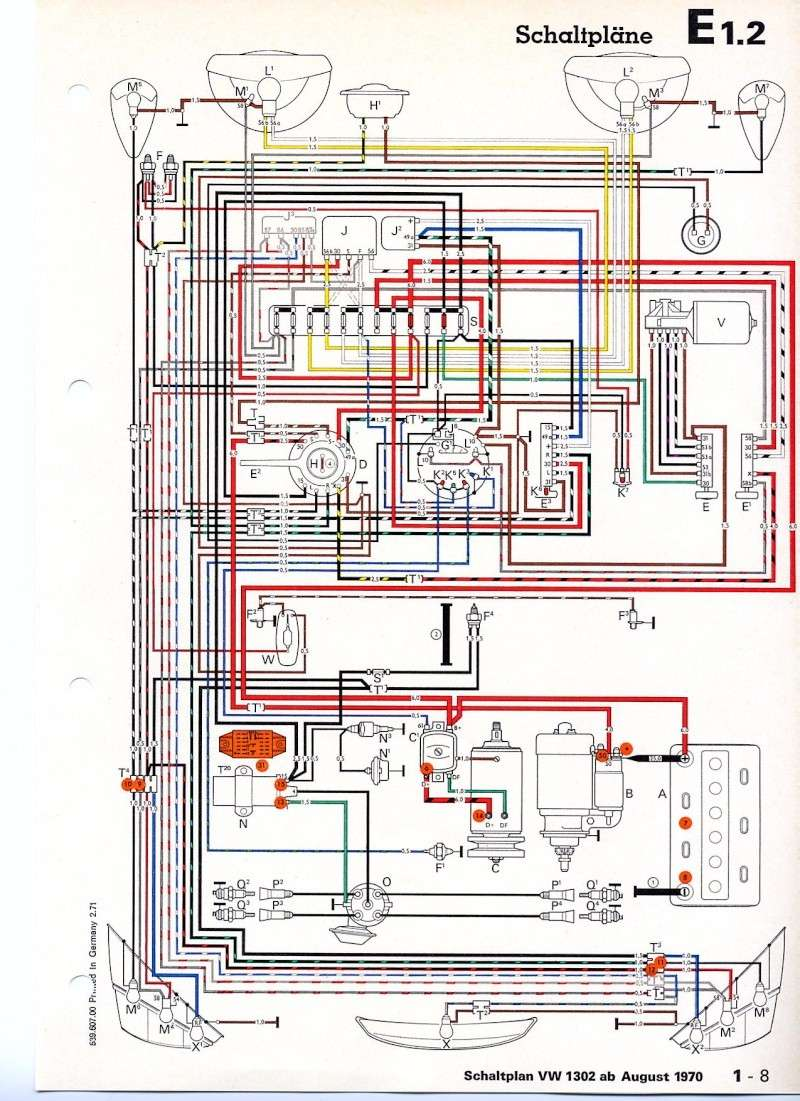 shema electrique pour cox 1302 ann u00e9e 1971