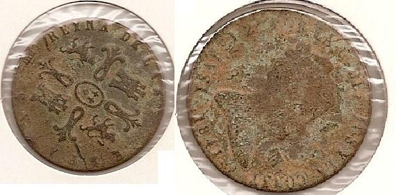 8 maravedis de Isabel II (Segovia, 1841 d.c) Centy_10