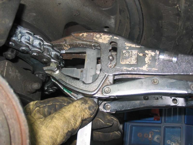 Riveter chaine moto sans rive chaine