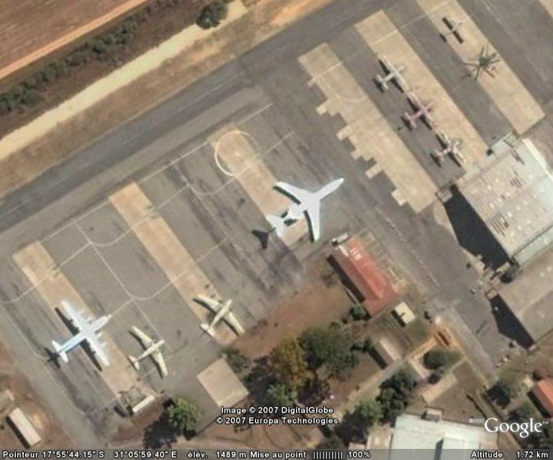 Avions, Aéroport Harare, Zimbabwe, Afrique Aeropo13