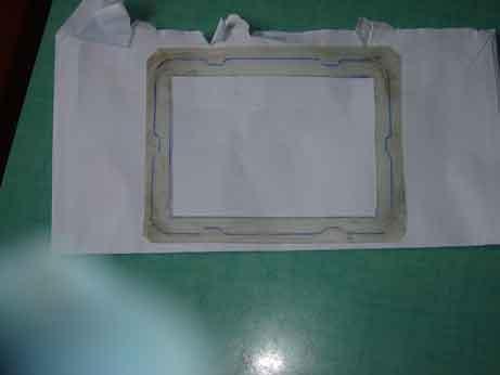 joint entre support grille du filtre avec la boite a air Dsc00011