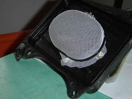 joint entre support grille du filtre avec la boite a air Dsc00012