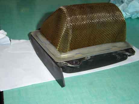 joint entre support grille du filtre avec la boite a air Dsc00013