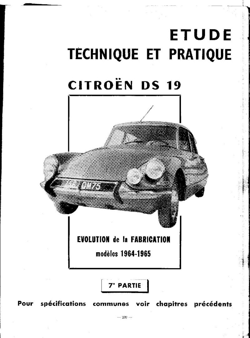 EVOLUTION DES MODELES DE 1964 A 1965 Ds_19224