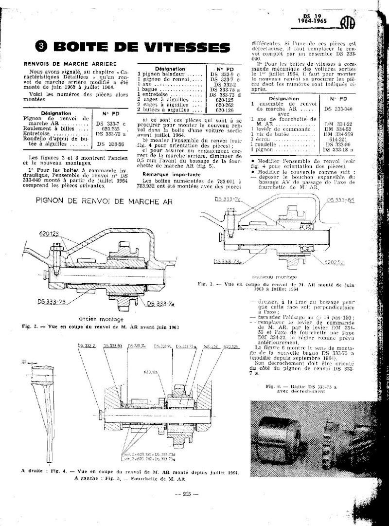EVOLUTION DES MODELES DE 1964 A 1965 Ds_19230
