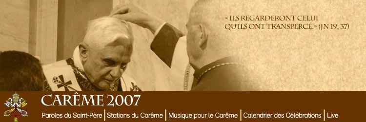 Image pour le Carême 2007 Pape_i10