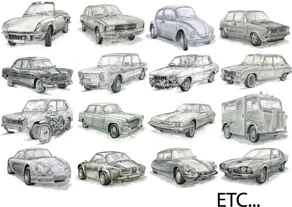 Dessins voitures anciennes - Dessin vieille voiture ...
