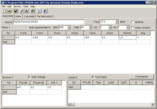 MMANA : Vues du logiciel Mmana_12
