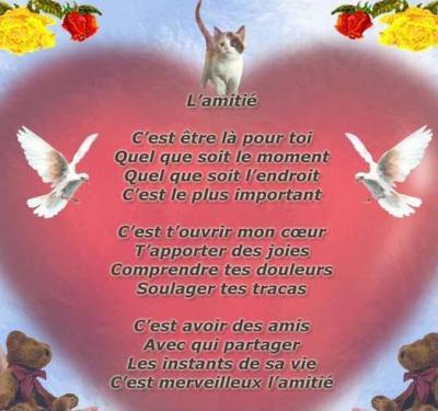 L'AMITIÉ..... Poeme10