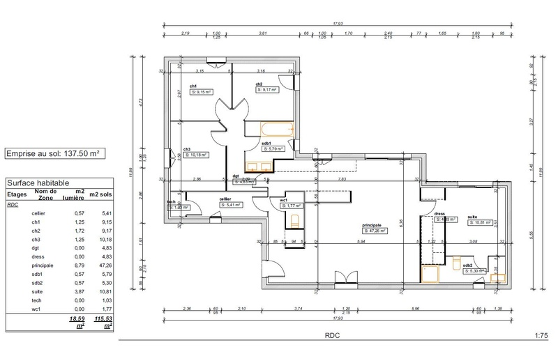 demande avis implantation agencement maison 115m plain pied 335 messages. Black Bedroom Furniture Sets. Home Design Ideas