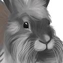 J'ai eu l'idée de faire ma lapine via une photo dégueux sur mon téléphone portable. J'ai commencé à 23h30 et je l'ai fini à 01h du matin >< J'avais promis de me coucher tôt mais bon. C'est une tête de lion. Elle est trop cuuuutee.