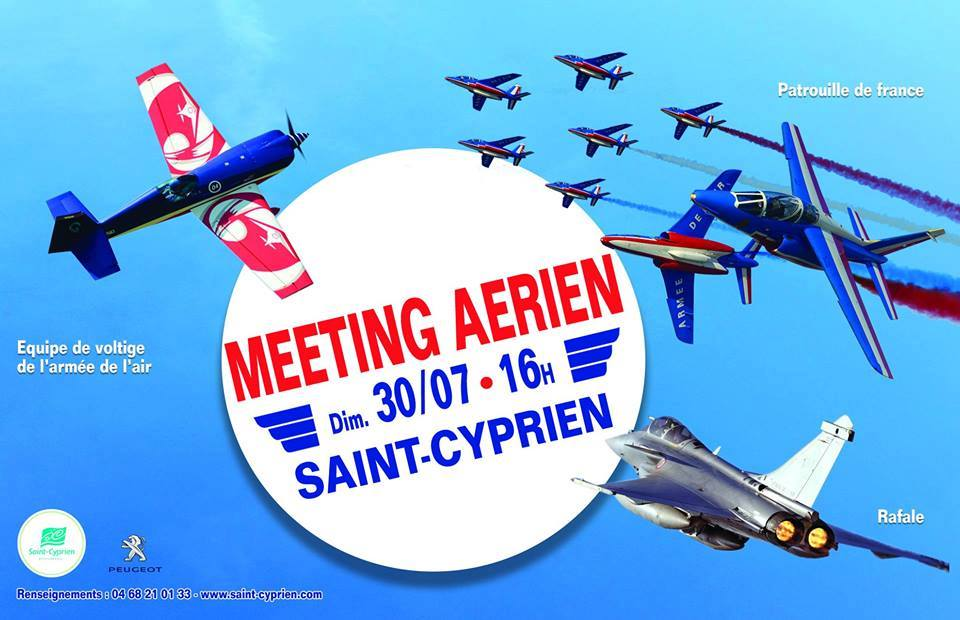 Meeting Aerien Saint-cyprien 2017, rafale solo display, patrouille de france, French Airshow 2017