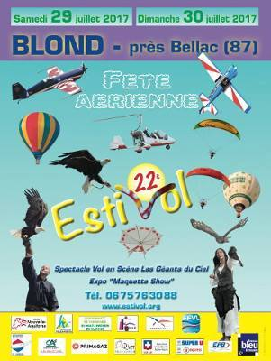 Festival Estivol 2017, EVAA , blond Bellac, French Airshow 2017