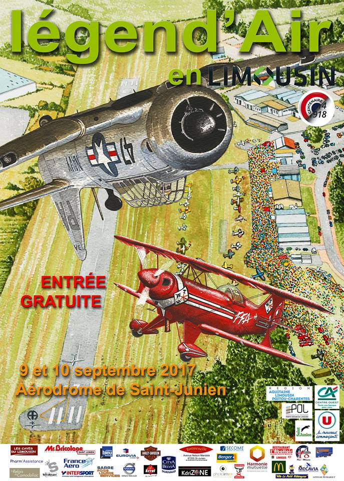 Légend'Air en Limousin 2017 , aérodrome de Saint Junien 2017 , Légend Air Limousin, Meeting Aerien 2017, Airshow 2017, French Airshow 2017