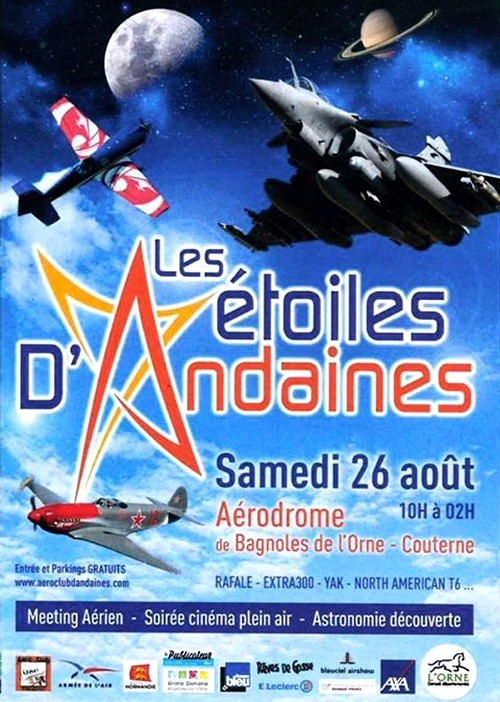 Les Etoiles d'Andaines, meeting aerien Bagnoles-de-l'Orne, picadie, rafale, French Airshow 2017