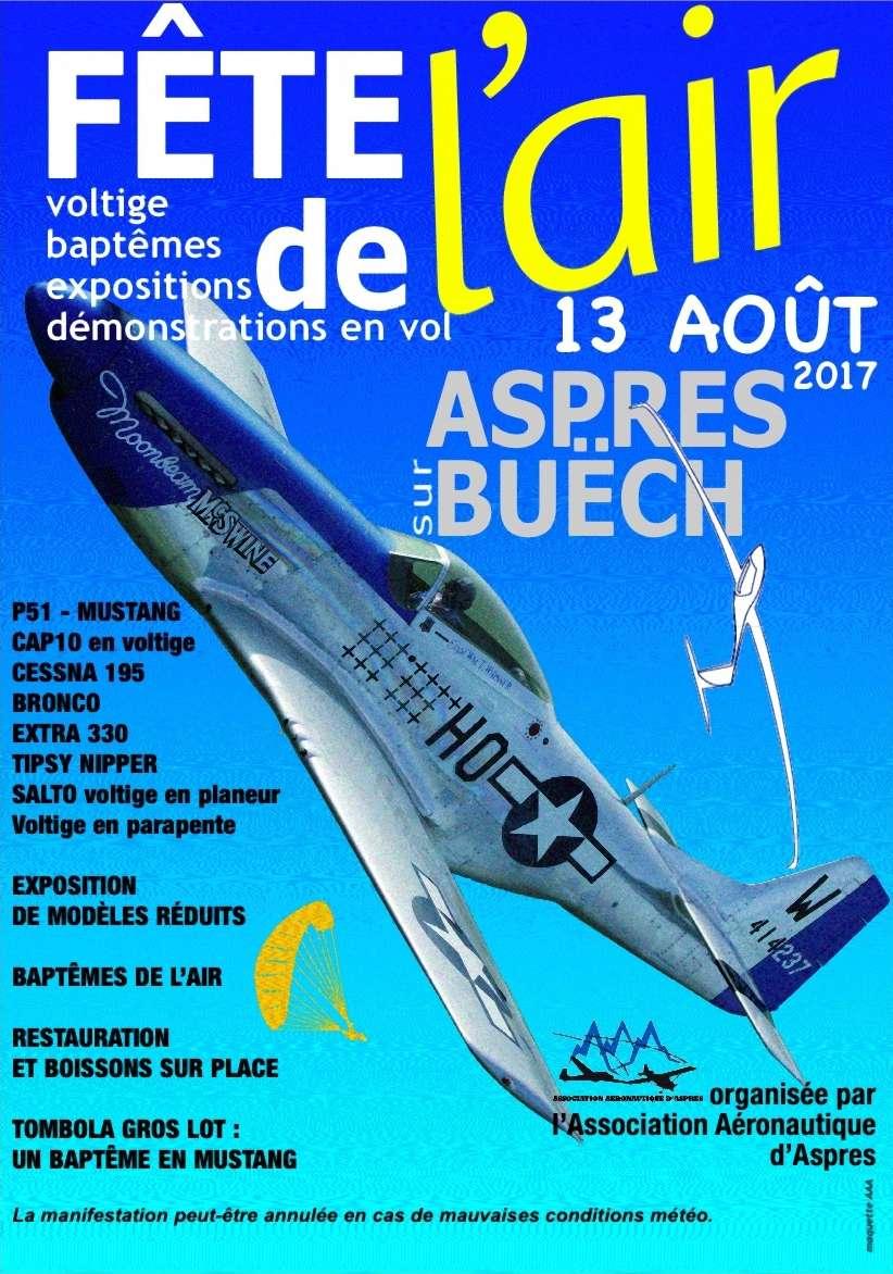 Fete de l'air d'Aspres sur Buëch le 13 Aout 2017, OV-10 bronco montelimar,MUSTANG P51D Moonbeam MacSwine ,Aérodrome d'Aspres sur Buëch ,aerofly, French Airshow 2017