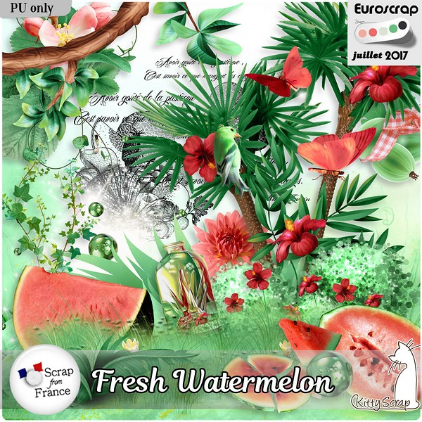 Fresh watermelon de KittyScrap dans Juillet kittys16