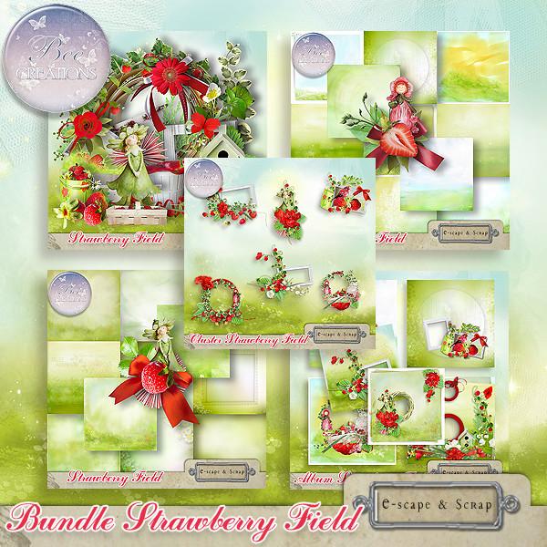 Strawberry field de BeeCréation dans Août bee_st11