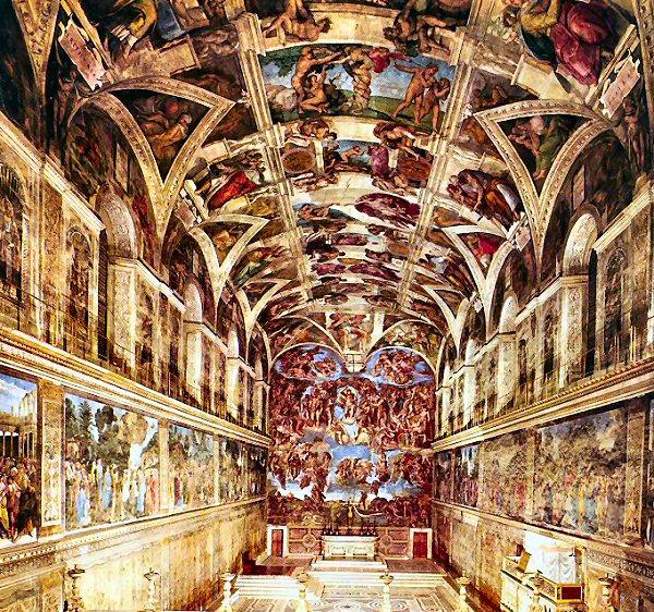 Quizz peintures - Plafond chapelle sixtine michel ange ...