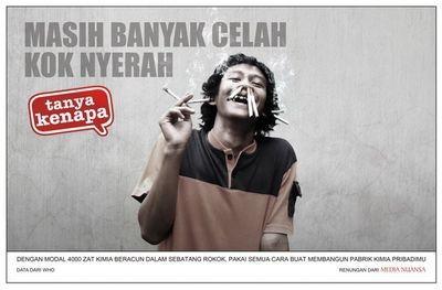 uploader by choirul anwar (ebiemz) untuk blog anak desa ujung harapan (ujung malang) kel. bahagia kec.babelan kab. Bekasi - Di Balik Slogan Indah Iklan Rokok