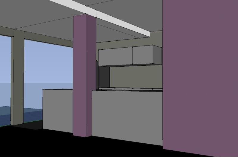 Am nagement appart partie 1 salon cuisine for Peinture gris violet
