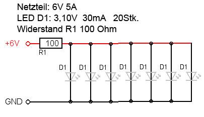 Reihen + Parallelschaltung von LEDs • www.ledhilfe.de - LED Forum