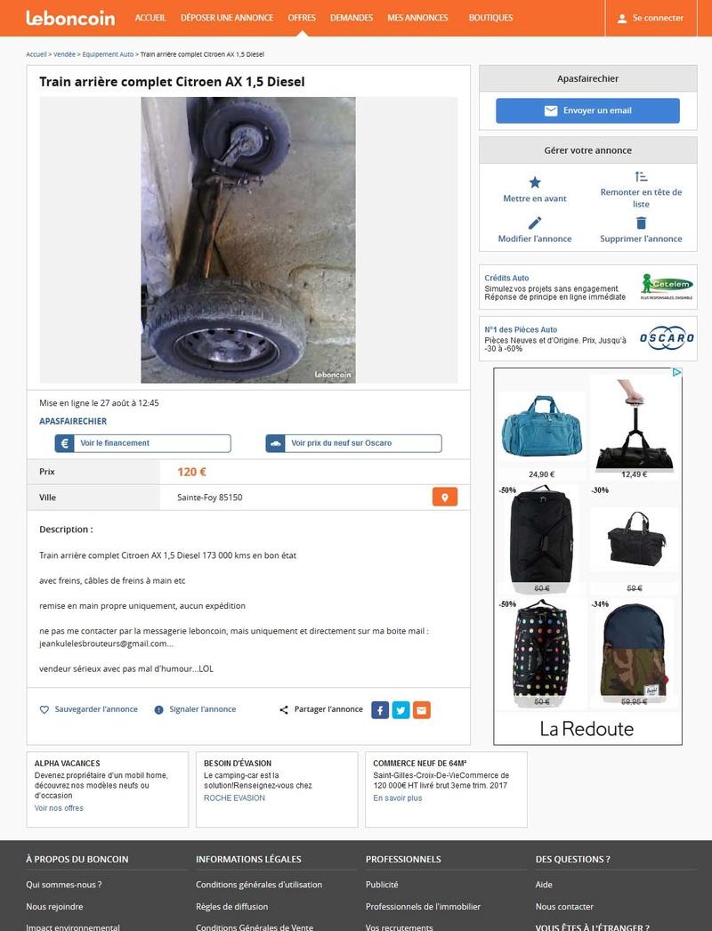 la bonne arnaque sur leboncoin arnaque faux paiement paypal sur leboncoin version humour. Black Bedroom Furniture Sets. Home Design Ideas
