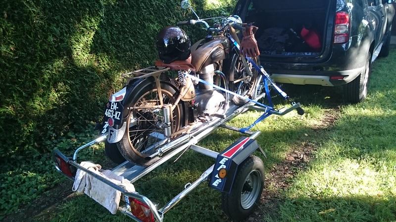 Retour d 39 exp rience sur remorque bienvenue sur le forum du motob cane club de france - Porte moto 1 rail erde pm 310 ...