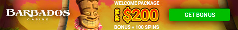 Barbados Casino $/£/€200 bonus + 100 Free Spins