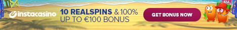 InstaCasino 25 free Spins no deposit bonus