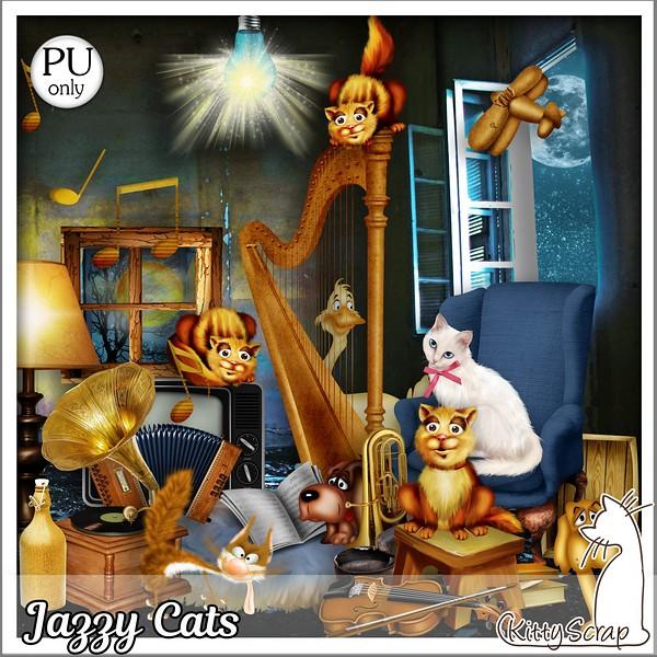 Jazzy cats de KittyScrap dans Juillet kittys27