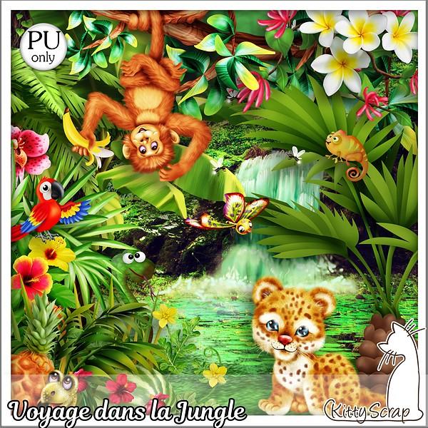 Voyage dans la jungle de Kittyscrap dans Août kittys37
