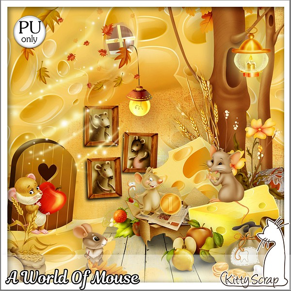 A world of mouse de Kittyscrap dans Août kittys41