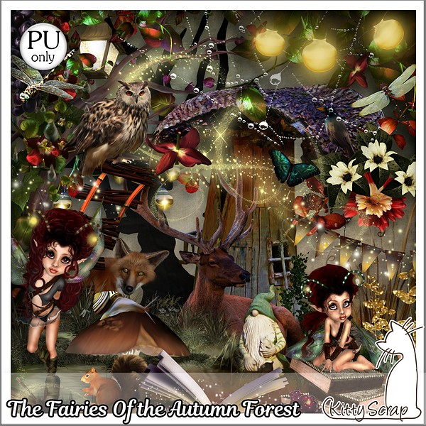 The fairies of the autumn forest de Kittyscrap dans Septembre kittys55