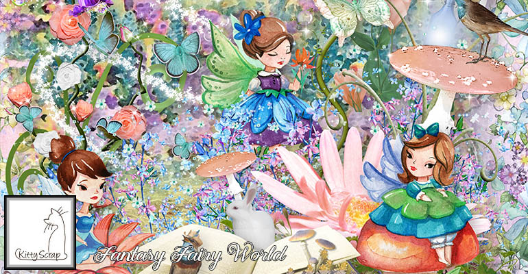 Fantasy fairy world de Kittyscrap dans Juillet slide_10