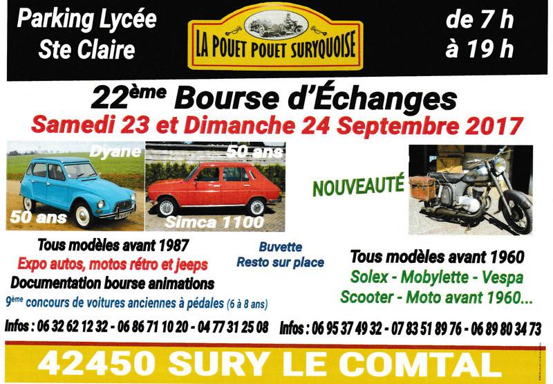 bourses, expos, rallyes, balades - septembre 2017 - voitures anciennes
