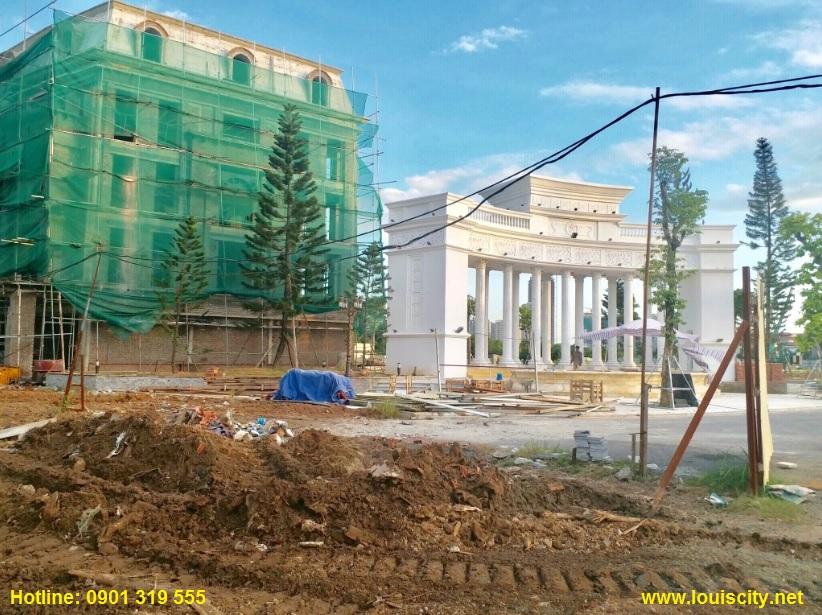 tiến độ thi công trục đường 70 trước dự án Louis City đại mỗ 4