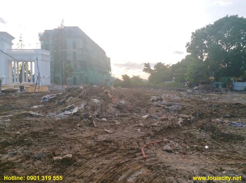 tiến độ thi công trục đường 70 trước dự án Louis City đại mỗ 7
