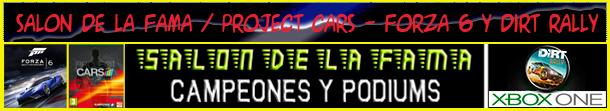 Campeones y Podiums. de FORZA 6 - PROJECT CARS Y DIRT RALLY - XBOX ONE / Año 2017