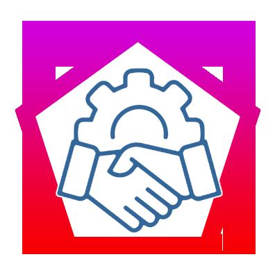 icone  Être partenaire avec 2 entreprises étrangères