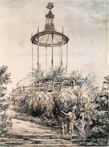 La gloriette de buffon au jardin des plantes de paris for Jardin xviiie siecle
