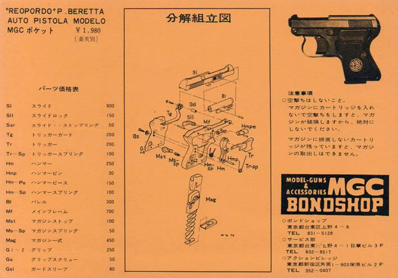 mgc beretta pocket model exploded diagram