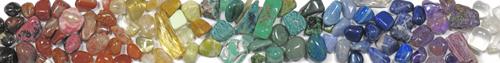 rainbow stones and cristals