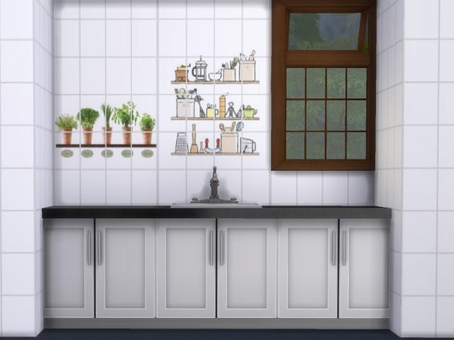 tapeten f r k che und bad oldbox s m belhaus. Black Bedroom Furniture Sets. Home Design Ideas